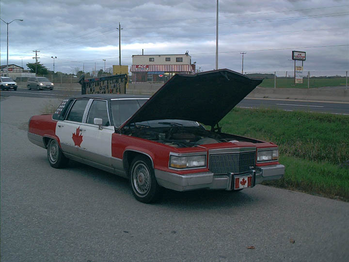 Broken down in Peterborough, ON, Oct, 2007.